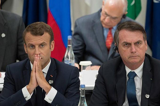 Macron acusa Bolsonaro de 'mentir' e França se opõe a acordo UE-Mercosul