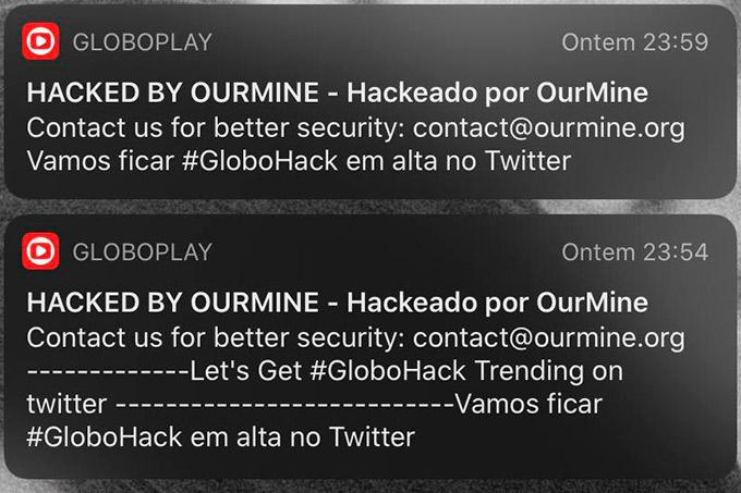 Notificações do Globoplay são invadidas por hackers e causam susto em assinantes