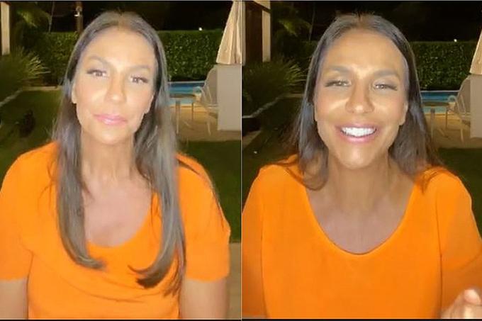 Live: Ivete completa 48 anos, chora e se declara para o marido: 'Louca por ele'