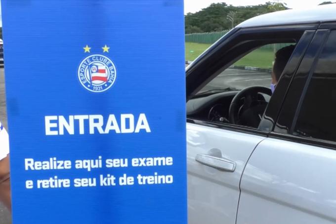 Bahia inicia testagem de jogadores e funcionários para covid-19